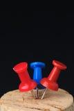 Contactos rojos y azules imágenes de archivo libres de regalías