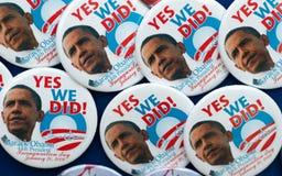 Contactos y botones de Barack Obama fotos de archivo