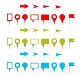 Contactos y flechas de la correspondencia stock de ilustración