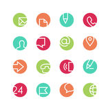 Contacts colored icon set Royalty Free Stock Images