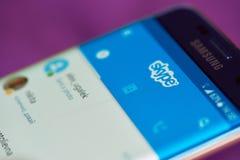 Contacts dans l'application de skype photo stock