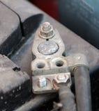 Contacts de batterie de voiture photos libres de droits