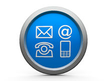 Contacts icon. Blue contacts emblem is communication, three-dimensional rendering Stock Photo