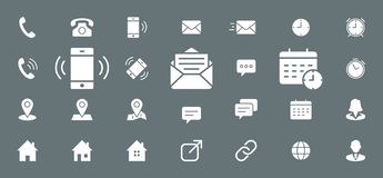 Contact Icons set 03 vector illustration