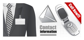 Contacts illustration Stock Image