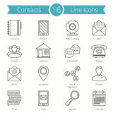 Contacts Line Icons Stock Photography