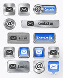 Contacts/Mail/Email web elements Stock Photo
