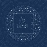 Contacts network symbol. Actual constellation style symbol. Alluring network style. Modern design. Contacts symbol for infographics or presentation Royalty Free Stock Photography