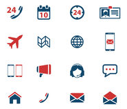 Contacts simply icons Stock Photography