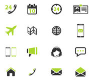 Contacts simply icons Stock Image