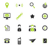 Contacts simply icons Stock Images