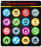 Contacts simply icons Royalty Free Stock Image