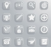 Contacts simply icons Royalty Free Stock Photography