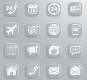 Contacts simply icons Royalty Free Stock Photo