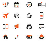 Contacts simply icons Royalty Free Stock Photos