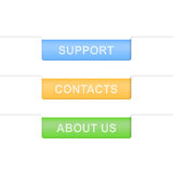 Contacts tabs. Design template Stock Images