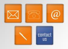 Contacttekens Stock Afbeelding