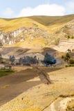 Contadini nelle Ande Fotografia Stock