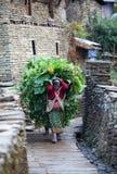 Contadino della donna di Gurung Fotografie Stock