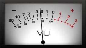 Contador analogico del VU almacen de metraje de vídeo