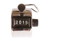 Contador con la fecha en 2015 Fotografía de archivo