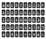 Contador con los dígitos y las letras ilustración del vector