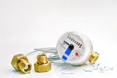 Contador da água conjuntamente com o connectio Imagem de Stock Royalty Free