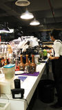 Contador da cafetaria foto de stock royalty free