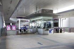 Contador de bilhete e porta da autoridade maciça do trânsito rápido de Thail fotos de stock