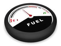 Contador de combustible en la posición plana stock de ilustración