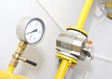 Contador de gas Fotografía de archivo libre de regalías