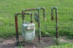 Contador de gas Foto de archivo libre de regalías