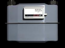 Contador de gas natural imágenes de archivo libres de regalías