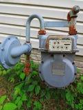 Contador de gas natural Fotos de archivo libres de regalías