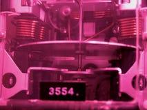 Contador de la electricidad Fotografía de archivo libre de regalías