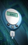 Contador de la glucosa Foto de archivo libre de regalías