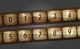 Contador de la película ilustración del vector