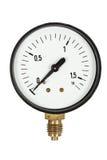 Contador de la presión aislado (aislado) Fotos de archivo