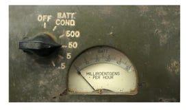 Contador de la radiación de la vendimia Fotografía de archivo libre de regalías