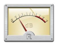 Contador de la señal analógica en el fondo blanco Fotografía de archivo libre de regalías