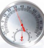 Contador de la temperatura y de la humedad Fotografía de archivo libre de regalías