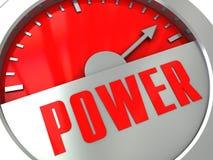 Contador de potencia Imagenes de archivo