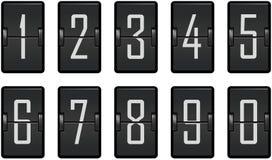 Contador de reloj que conecta los dígitos oscuros Foto de archivo