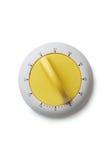 Contador de tiempo con el botón amarillo fotos de archivo