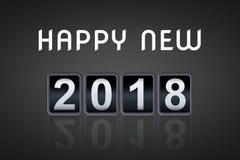 contador de tiempo contrario análogo de la cuenta descendiente del vintage del concepto de la Feliz Año Nuevo 2017 2018, contador Foto de archivo