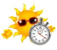 contador de tiempo de 3d Sun Foto de archivo