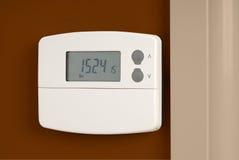 Contador de tiempo de la calefacción central Foto de archivo libre de regalías