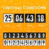 Contador de tiempo de la cuenta descendiente de la Navidad o del Año Nuevo Imágenes de archivo libres de regalías