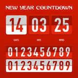 Contador de tiempo de la cuenta descendiente del Año Nuevo o de la Navidad Imágenes de archivo libres de regalías