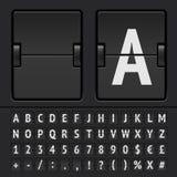 Contador de tiempo de la cuenta descendiente del vector Imágenes de archivo libres de regalías